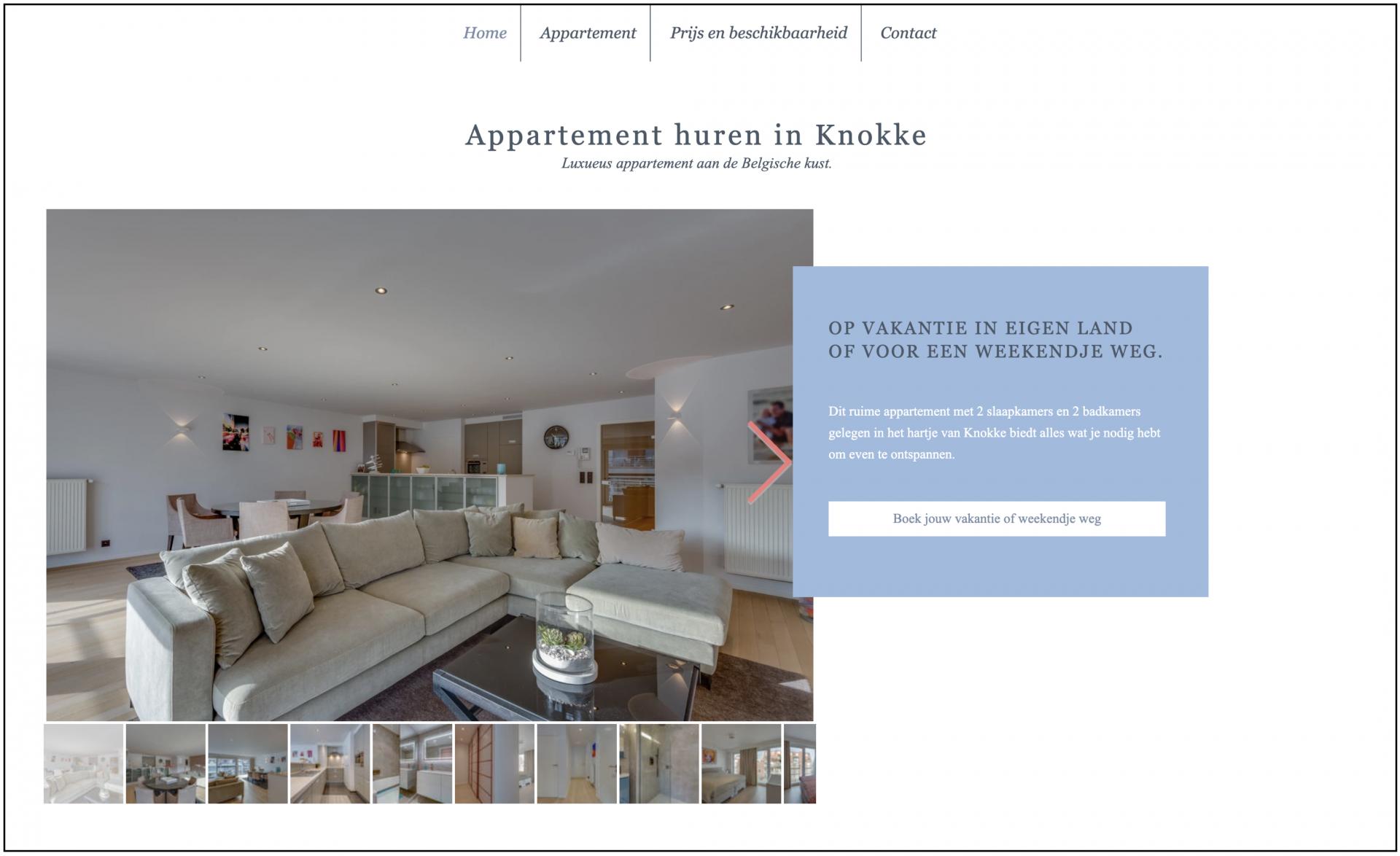 Appartement huren in Knokke